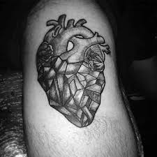 diamond tattoo neo traditional 90 anatomical heart tattoo designs for men blood pumping ink