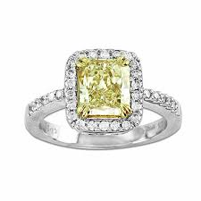 Zales Diamond Wedding Rings by 2 1 4 Ct T W Radiant Cut Yellow And White Diamond Engagement