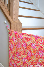 Baby Gate For Top Of Stairs With Banister And Wall How To Make Your Own Diy Fabric Baby Gate For Your Home