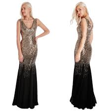 goddiva dresses sequin chiffon evening maxi party dress gown