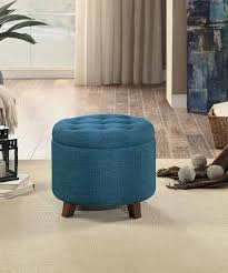 Leather Animal Ottoman by Furniture Blue Storage Ottoman Navy Blue Pouf Leather Ottomans