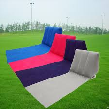 Pvc Patio Furniture Cushions - outdoor pvc inflatable camping back pillow cushion chair travel