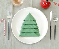 christmas tree napkin fold 10 steps with pictures