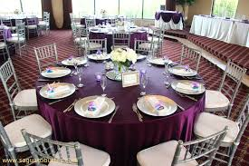 eggplant colored table linens satin eggplant linens with ivory wedding colors my tucson wedding
