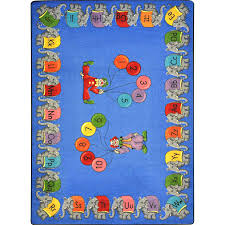 8 feet in inches circus elephant parade 5ft 4in x 7ft 8in kids rug