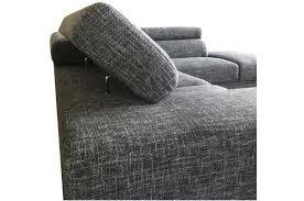 canap tissu gris chin canapé d angle gauche gris chiné en tissu zion design sur sofactory