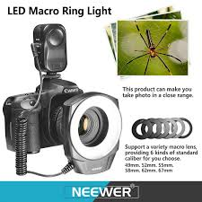neewer macro ring led light amazon com neewer 48 led macro ring light with three 3 different