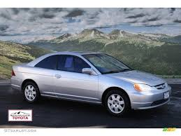 2002 satin silver metallic honda civic ex coupe 57539597