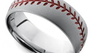 mens wedding rings cool men s wedding rings for sports fanatics