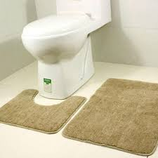 Bathroom Mats Set by 2pcs Bathroom Mats Set Coral Fleece Foam Rug Kit Toilet Pattern