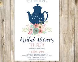 bridal tea party invitation printable tea party invitation bridal tea party invitation