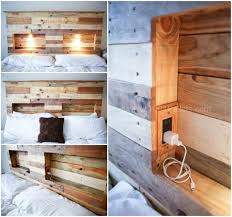 bedroom surprising cool wood headboards euro pallets bedroom