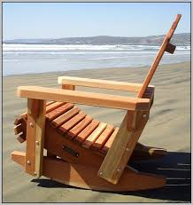 plans to idea simple wooden rocking chair