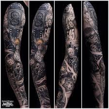 black grey tattoos sake crew