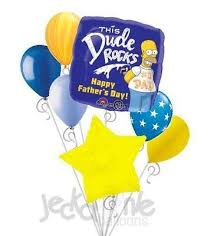 fathers day balloons homer happy s day balloon bouquet jeckaroonie
