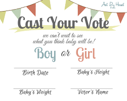 cast your vote baby shower cards printable baby shower
