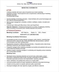 event coordinator resumes 30 professional marketing resume templates pdf doc free