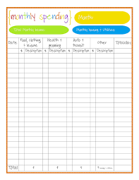 Spreadsheet For Monthly Budget Monthly Budget Tracker Template