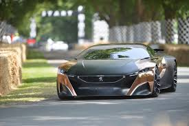 peugeot cat peugeot onyx concept hybrid supercar in action at 2013 goodwood