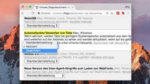 Chrome Flags Android Tabs In Google Chrome Nicht Verwerfen Digital Bild De