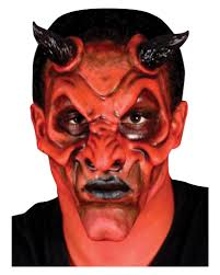 Hellboy Halloween Costume Devil Face Latex Appliance Spread Fear Terror