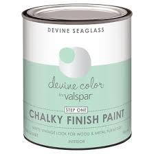 devine color chalky finish paint seaglass mint target