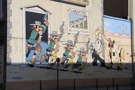 lucky luke comic strip mural brusselspictures