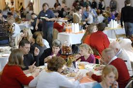 extend your family at a community thanksgiving dinner