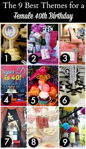 party themes for the 12 best 40th birthday themes for women catch my party