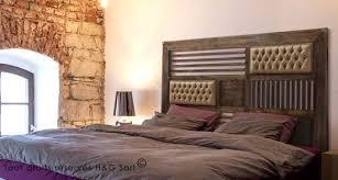 chambre style loft industriel chambre style loft industriel 13 tete de lit bois massif 160 cm
