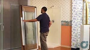 shower door contractors shower doors neo angle installation youtube