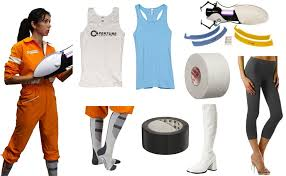 portal jumpsuit chell from portal costume diy guides for
