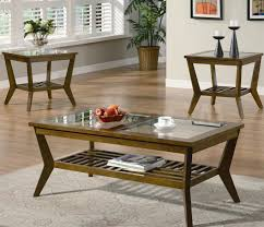 Glass End Tables For Living Room Living Room Coffee Table Awesome Narrow End And Side Set In