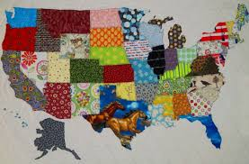 Map Pattern Usa Patchwork Map Quilt Pattern From Quilts By Elena Full
