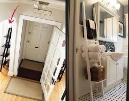 Ladder Shelf For Bathroom Awesome Ikea Hacks For An Organized Bathroom