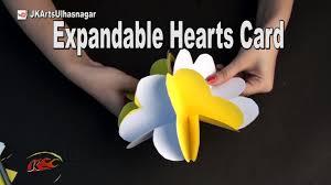 expandable scrapbook diy expandable hearts card for scrapbook how to make jk arts