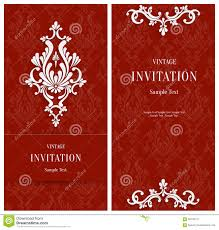 Christmas Invitation Card Vector Red Floral 3d Background Template For Christmas Or
