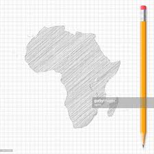 africa map drawing africa map sketch with pencil on grid paper vector getty images