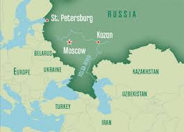 map of kazan saudi aramco world kazan between europe and asia