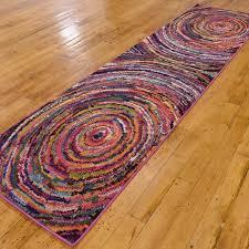 barcelona rug multi swirl 3 u0027l x 10 u0027w unique loom touch of