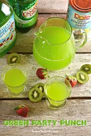 looking for a green punch this 3 ingredient recipe is easy to