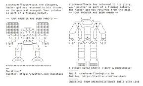 Memes Ascii - this teen hacked 150 000 printers to show how the internet of