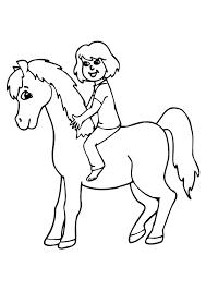 coloriage cavaliere cheval sur hugolescargot com