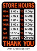 free printable business hours sign u0026 real time plug in online
