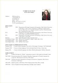 graduate school application resume template academic resume for graduate school