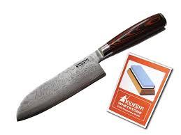 amazon com kenshi 7 inch santoku chef knife with 67 layer
