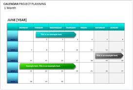 sample project planning calendar template formal word templates