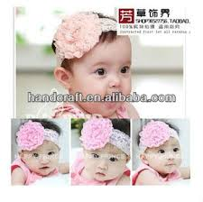 flower bands glitter flower lace children hair band baby hair accessories hair