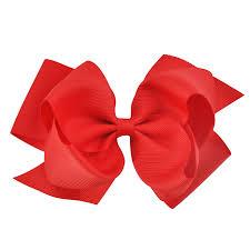 ribbon bow 6 inches fashion new born kids grosgrain ribbon bow hair clip