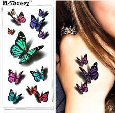 3d butterfly temporary tattoos sticker removable